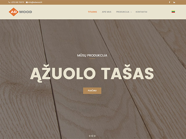 Adwood interneto svetainės kūrimas