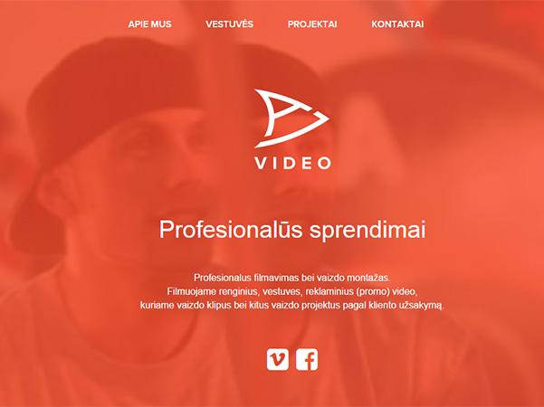 Ai video interneto svetainės kūrimas