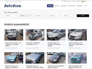 Auto dalys interneto svetainės kūrimas