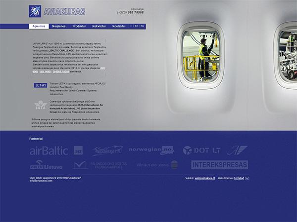 Aviakuras interneto svetainės kūrimas