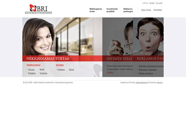 BRI interneto svetainės kūrimas