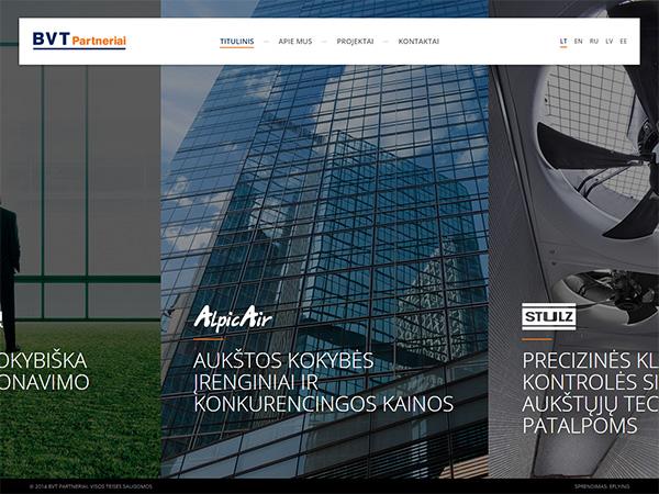BVT Partneriai interneto svetainės kūrimas