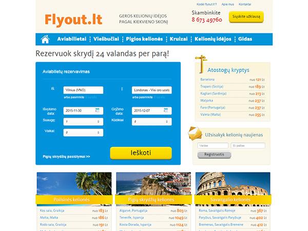 Kelionių portalas interneto svetainės kūrimas