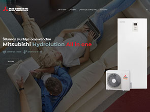 Mitsubishi Hydrolution interneto svetainės kūrimas