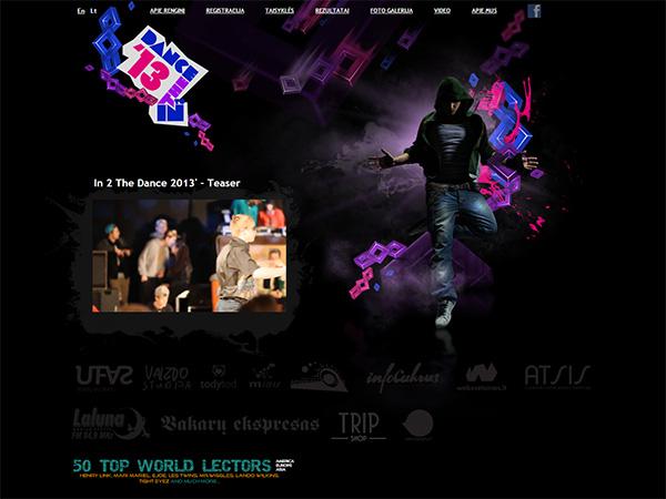 In2thedance interneto svetainės kūrimas