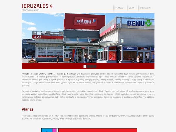 Jeruzalės prekybos centras interneto svetainės kūrimas