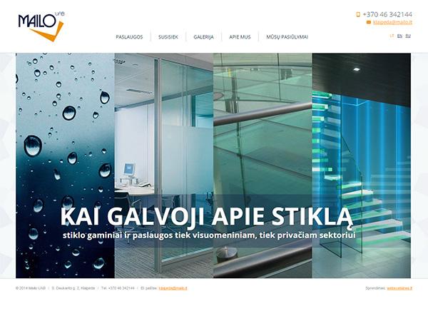 Mailo stiklas interneto svetainės kūrimas