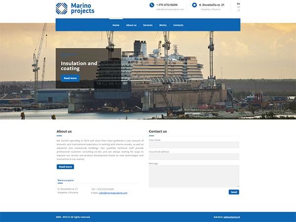 Marino Projects interneto svetainės kūrimas