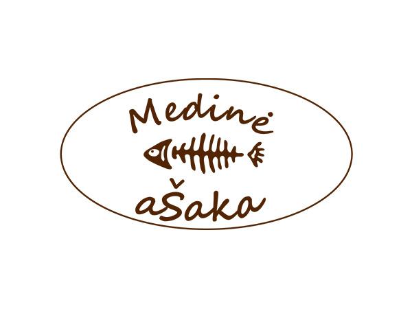 Medinė ašaka logo interneto svetainės kūrimas