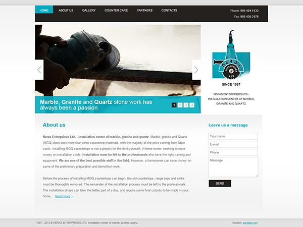 Neras Enterprises interneto svetainės kūrimas