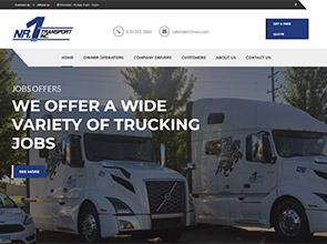 Nr1Trans logistika interneto svetainės kūrimas