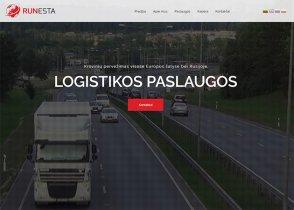 Runesta Logistika interneto svetainės kūrimas