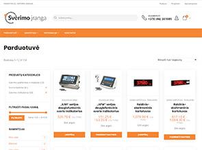 Svėrimo įranga interneto svetainės kūrimas