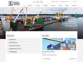 Konteinerių terminalas interneto svetainės kūrimas