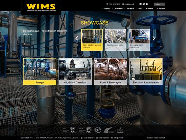 Wims interneto svetainės kūrimas