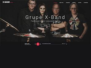 Grupė X-Band interneto svetainės kūrimas